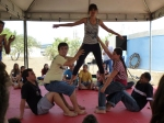 Atualmente participam aproximadamente 65 alunos das atividades circenses.